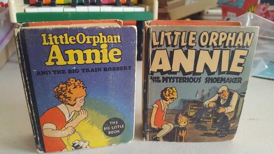2 big little books- little orphan annie