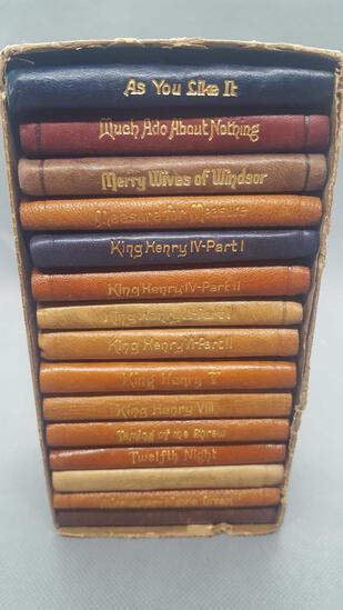 Mini leather Shakespeare books