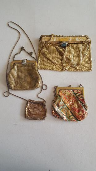 Whiting and davis & other vintage purses