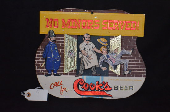 Cook's Beer Sign