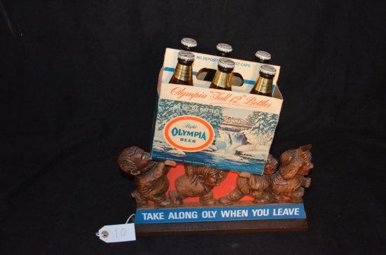 Olympia Beer 6-Pack Advertising Piece