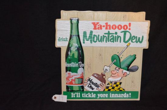 Ya-hooo Mountain Dew Advertising Sign
