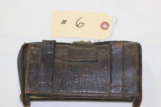 "Civil War Cartridge Box Marked ""Ksg, Watervliet Arsenal"""