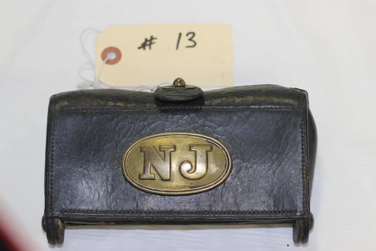 "Indian Wars Cartridge Box, ""Watervliet Arsenal"""