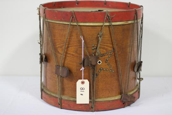 "Civil War-Era Drum, ""John F. Gleich, Cincinnati, Ohio,"" 16.75"" x 15.5"", decorated star with brass ta"