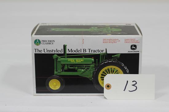 #13 JOHN DEERE UNSTYLED MODEL B TRACTOR 1/16-SCALE PRECISION CLASSICS NO. 24 (NIB)