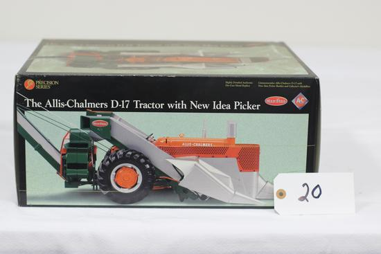 #20 ALLIS-CHALMERS D-17 TRACTOR WITH NEW IDEA PICKER 1/16-SCALE PRECISION SERIES NO. 8 (NIB, BOX DUS