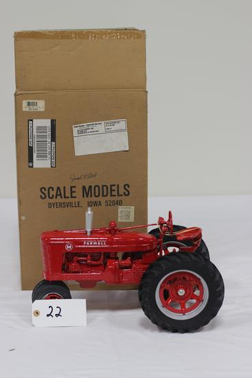 "#22 FARMALL MODEL M TRACTOR 1/8-SCALE SIGNED BY ""JOSEPH L. ERTL"" (HAS BOX)"