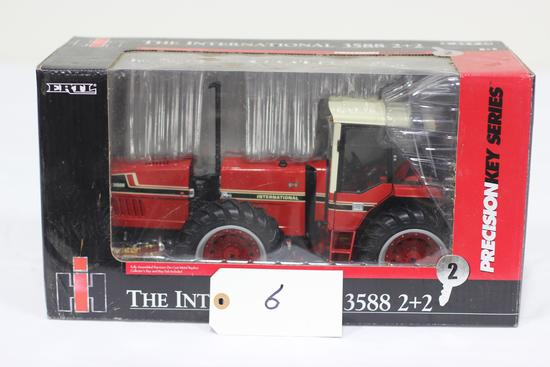 #6 INTERNATIONAL 3588 2+2 TRACTOR 1/16-SCALE PRECISION KEY SERIES NO. 2 (NIB)