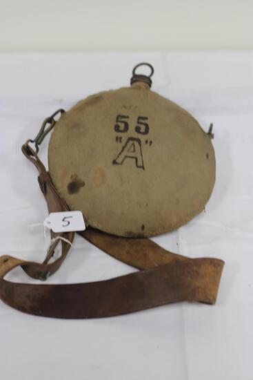 "#5-U.S. 55 ""A"" INDIAN WARS CANTEEN"