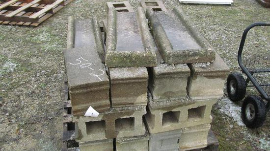 50-2 - CEMENT BLOCKS AND DOWNSPOUT DRAINS, APPROX (25+)