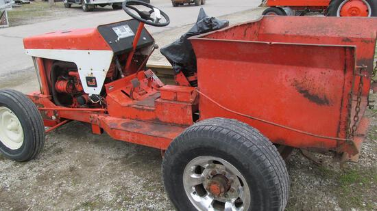 16-1 - JACOBSON UTILITY VEHICLE WITH FORD GAS ENGINE (4 TIRES AND WOOD BED INCLUDED)