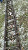 25-18 - WOODEN EXTENTION LADDER, 22 FT.
