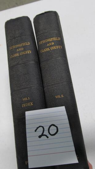 Springfield And Clark County, Vol 1&2, C. 1922 The American Historical Society By Dr. Benjamin F. Pr