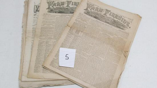 Farm Fireside, 13 Issues - 1884 & 1885, Springfield, Ohio, Newspaper