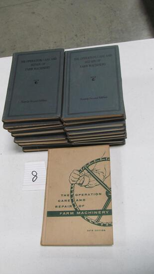 Operation, Care, And Repair Of Farm Machinery, (19) Editions, John Deere, Moline, Ill,