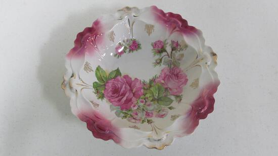 """10.75"""" Bavarian floral pattern serving bowl"""