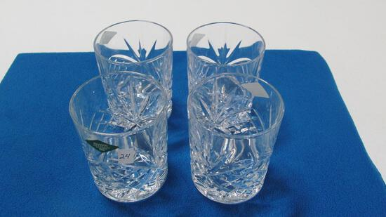 (4) Shannon crystal bourbon glasses