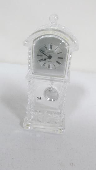 "Crystal Legends 10.75"" quartz clock made in West Germany"
