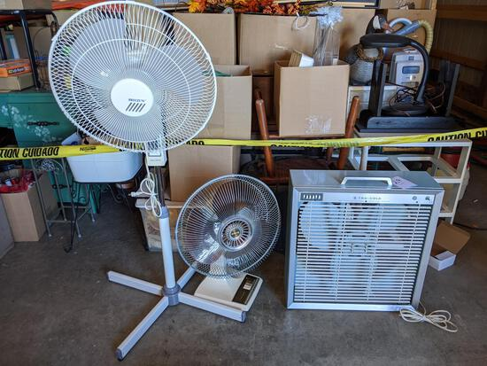 Tru Cold Box Fan, Galaxy Table Top Fan, Breeze'n Floor Model Fan