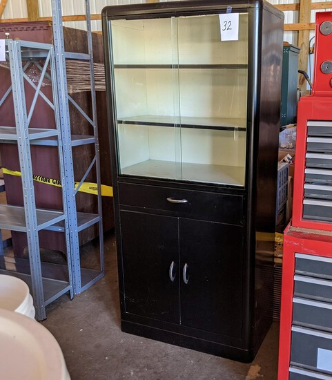"Metal Doctor's Cabinet - 65""x15""x30"""