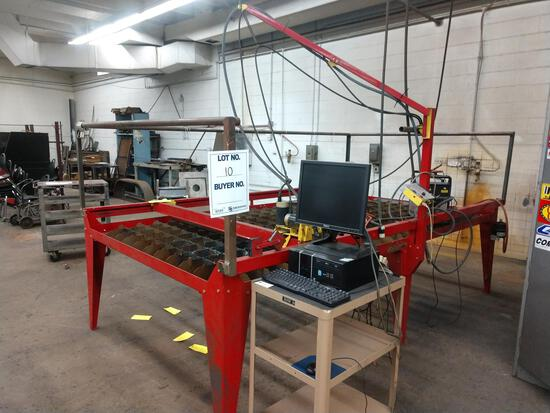 "6' 4"" X 11' PLASMA CAN TABLE; HYPERTHERM POWER MAX 600 PLASMA CUTTER"