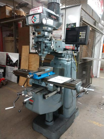 CLAUSING KONDIA CNC MILL, 4' TABLE #AB43, TYPE FV-1, RETRO FIT CONTROLS