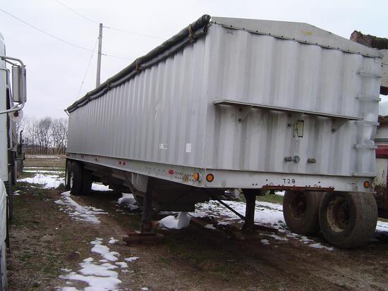 Kann 40' aluminum hopper trailer