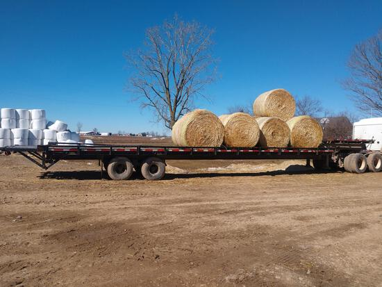 drop-deck 38' flatbed semi trailer with wood floor and extension
