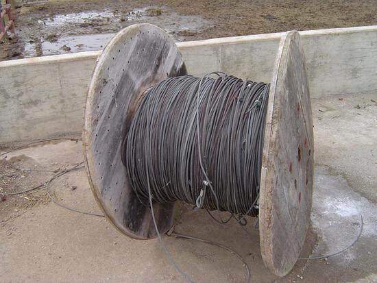 spool of steel cable