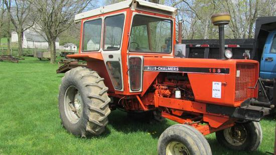 ALLIS-CHALMERS 185 DIESEL TRACTOR WITH 4,491 HOURS AND HARD-TO-FIND CAB (MI