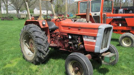 ALLIS-CHALMERS A-C 5050 DIESEL TRACTOR WITH 6,520 HOURS (WILL NOT STAY IN S