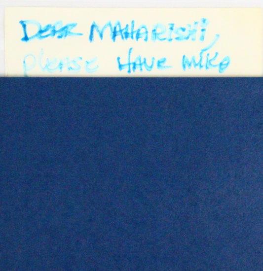 Brian Wilson Handwritten Letter To: Maharishi
