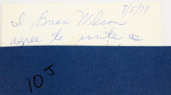 1977 Contract by Marilyn & Brian Wilson SIGNED