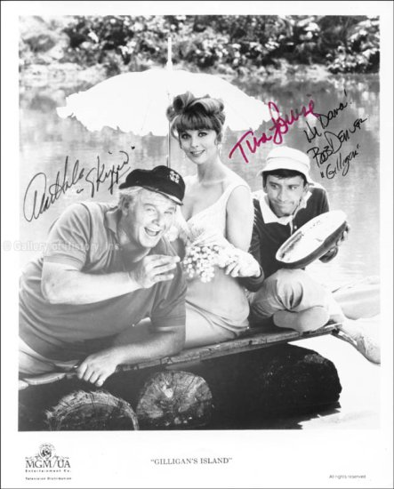 Gilligan's Island TV Cast Autographed Promo Photo