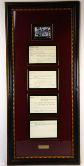 James Brown Apollo Notes (Others in Smithsonian)