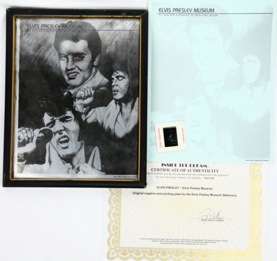 Elvis Museum Negative Photo/Printing Plate W/COA