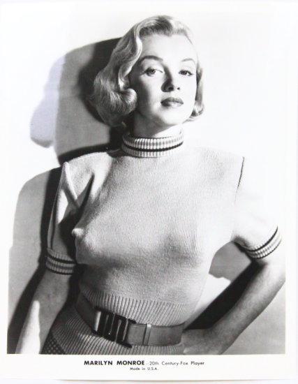 "Marilyn Monroe Rare 1950's 8""x10"" B&W Headshot"