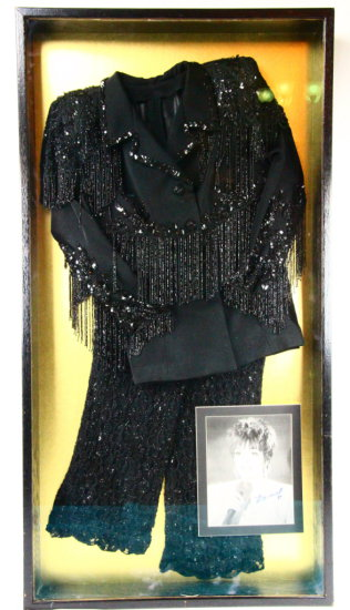 Liza Minnelli Framed Two-Piece Sequence Outfit