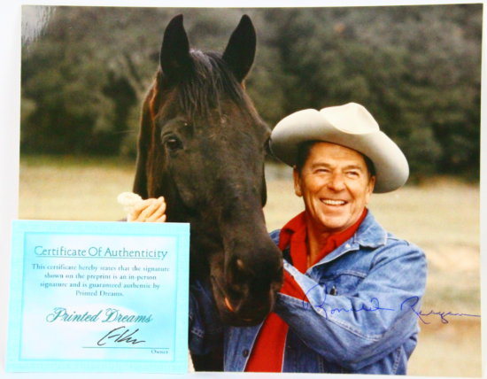 "Ronald Reagan Autographed 8""x10"" Photo W/COA"