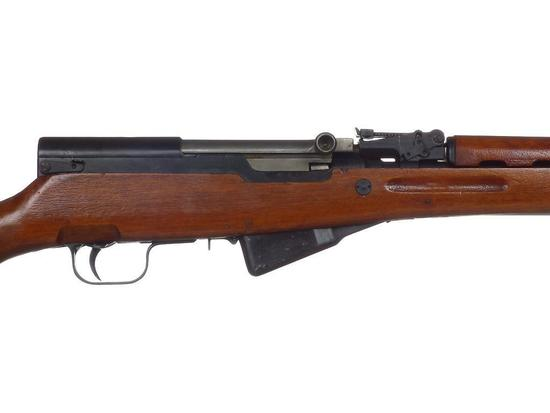 Manufacturer: SKS Model: SKS Gauge/Cal: 7.62x39mm Type: Semi-Auto Rifle Serial #: 25005367 Misc: