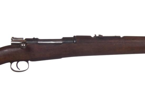 Manufacturer: Mauser Model: German Gauge/Cal: 6.5x50mm Type: Rifle Serial #: 5846 Misc: Mounted