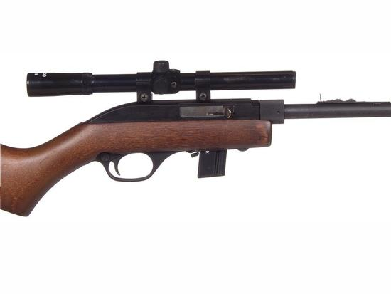 Manufacturer: Marlin Model: 70P-Papoose Gauge/Cal: .22 Type: Rifle Serial #: 11402894 Misc: 2-piece
