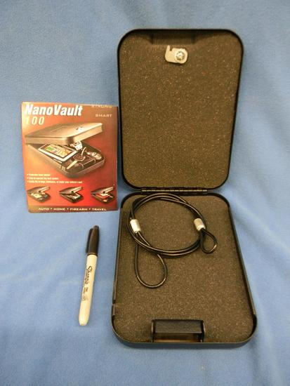 Locking small pistol box with two (2) keys