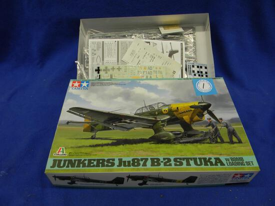 Tamiya Junkers Ju87 B-2 Stuka with bomb loading set 1/48th scale