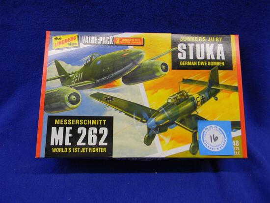 The Lindberg Line model kit HL508/12 Junkers JU87 Stuka German Dive Bomber Messerschmitt ME 262