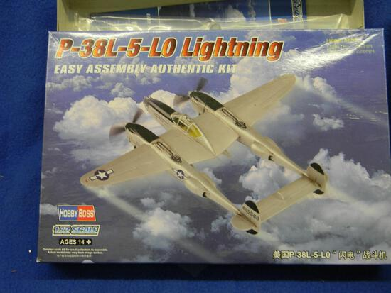 Hobby Boss P-38L-5-LO Lightning model kit 1:72 scale Special Hobby F-86K Sabre Dog model kit SH