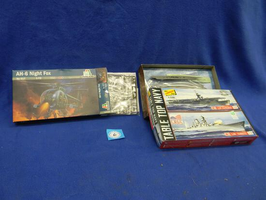 Italeri AH-6 Night Fox model kit 017 1:72 scale Table Top Navy model kit HL424/12 1:1200 scale IJN