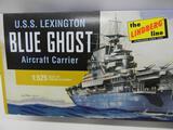 The Lindberg Line U.S.S. Lexington Blue Ghose Aircraft Carrier HL436/12 model kit 1:525 scale