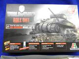 Italeri World of Tanks Roll Out M4 Sherman 37503 model kit From the online video game phenomenon